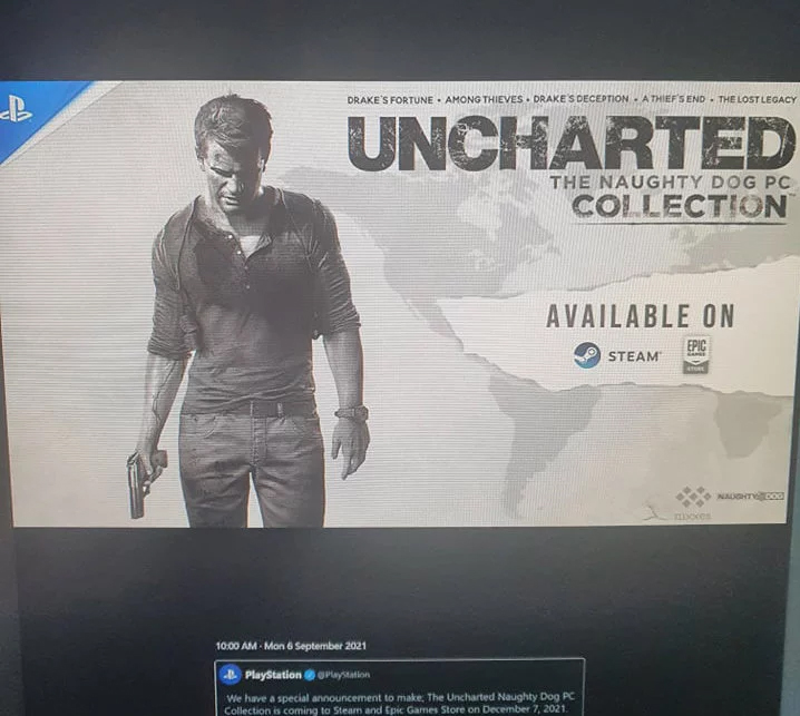 Leak Uncharted Naughty Dog Collection PC