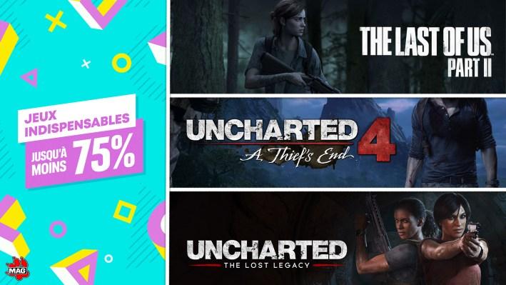 Promotions de septembre 2021: The Last of Us 2; Uncharte 4; Lost Legacy