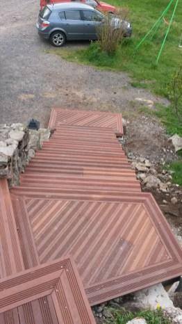 terasse en bois sur mesure lozere