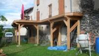 terrasse en bois à Nolhac