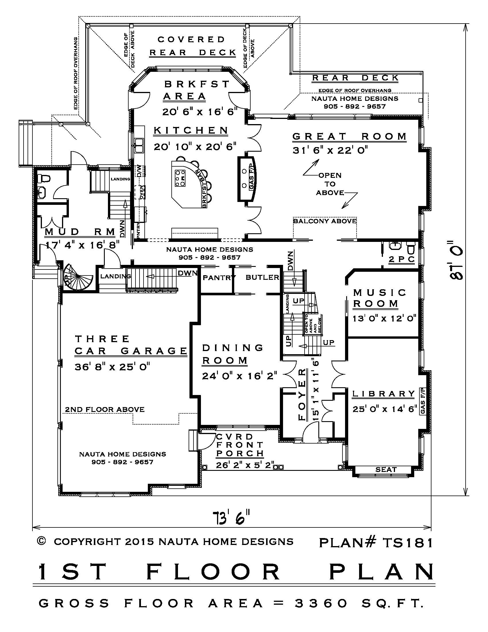 5 Bedroom Two Storey House Plan Ts181