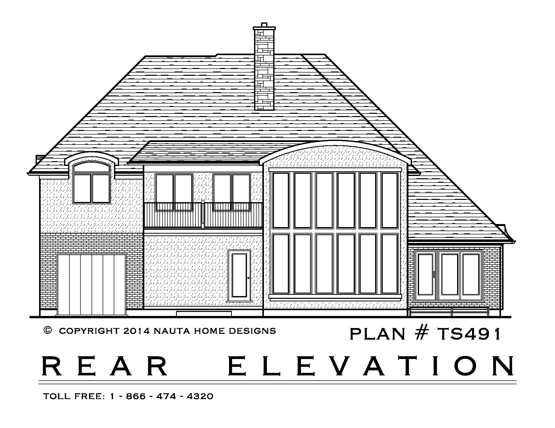 3 Bedroom Two Storey House Plan Ts491