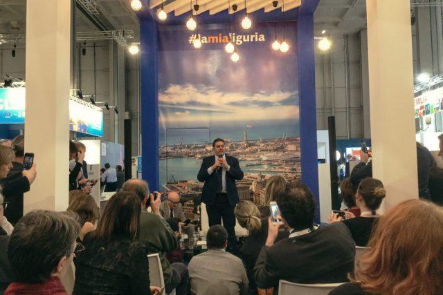 Stand Liguria presidente della Regione Giovanni Toti