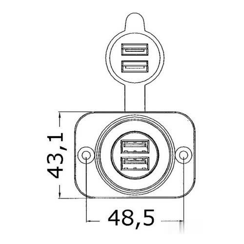 small resolution of 14 516 01 dis lighter plug double usb
