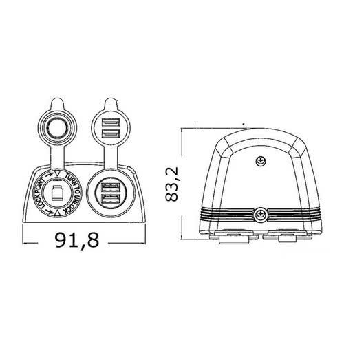 hight resolution of 14 516 04 dis lighter plug double usb