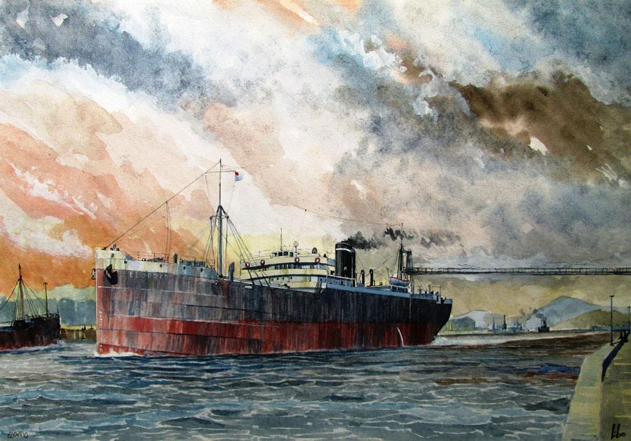 Pinturas a Acuarela de barcos y motivos marineros