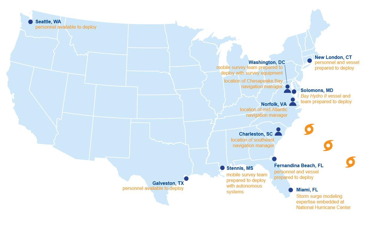 Map of survey response asset locations