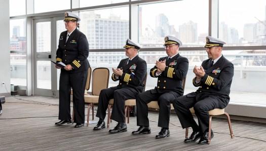 Cmdr. Briana Welton Hillstrom, Capt. Chris van Westendorp, Capt. David Zezula, Capt. Rick Brennan.