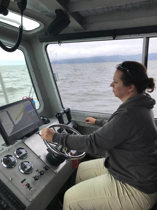 Ms. Millonzi onboard NRT-Seattle conducting survey operations.