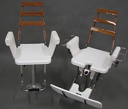 fishing fighting chair parts youth dining room chairs ffc designs by nautical hc and helm with teak accent backs
