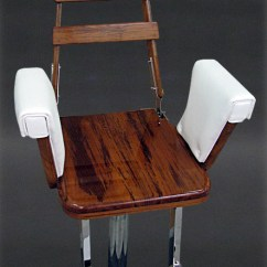 Fishing Fighting Chair Parts Rocking Swing Teak Helm By Nautical Design For Your Sport Experience