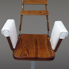 Fishing Fighting Chair Parts Light Brown Leather Standard Teak Helm By Nautical Design For Your Sport Experience