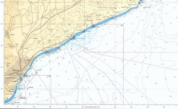 carta escaneada de navegacion