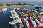 Antibes Yacht Show aerial