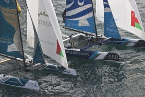 Extreme Sailing Series: Groupe Edmond de Rothschild squeezed out