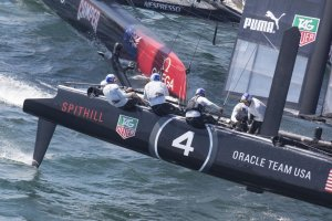 ORACLE TEAM USA Spithill puts clamp on ACWS – Newport