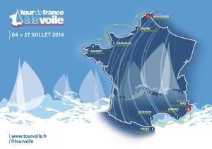 TFV14 – Tour de France à la Voile 2014 : le parcours