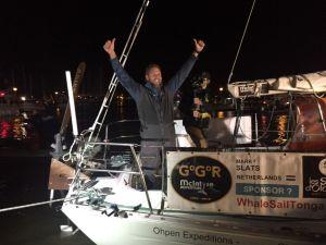 Mark Slats deuxième de la Golden Globe Race, accueilli comme il se doit