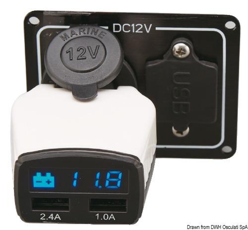 Monitor Batteria Pi Presa Usb 14 100 01 Osculati