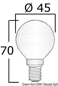 Lampadina 12 V 25 W E14 14 483 22 Osculati