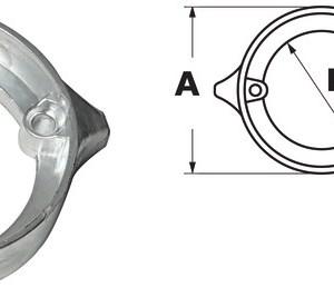 Anodo Alluminio Volvo Duo Prop 875821 43 531 10 Osculati