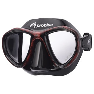 Problue Freediving Mask Camou Red MS-249B-C