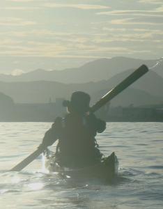 7 nautilus wooden kayaks Cabo de gata 2017 nautiluskayaks pasando la Isleta