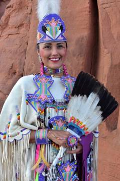 "Navajo Times | Rima Krisst Julia ""Akeemah"" Neel at the pow-wow at Red Rock Park."