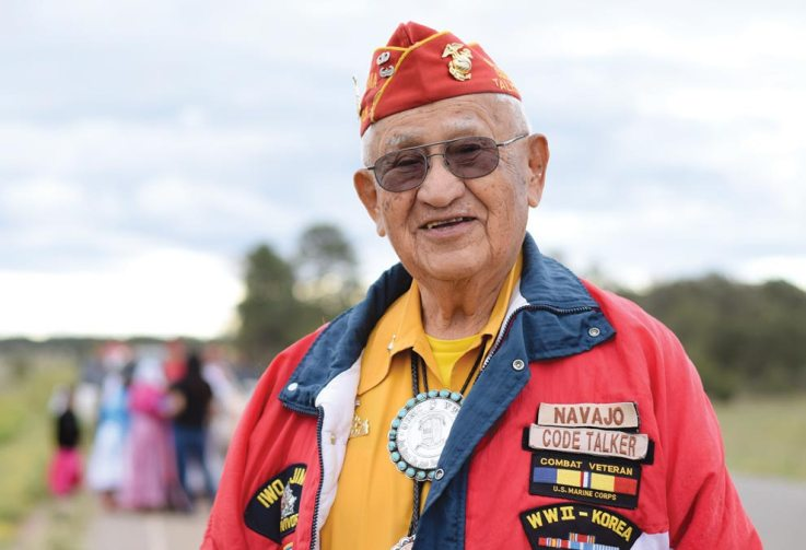 Navajo Times | Ravonelle Yazzie Navajo Code Talker Thomas H. Begay served as grand marshal for the parade at the Ramah Navajo Fair and Rodeo in Pine Hill, N.M., on Aug. 25.