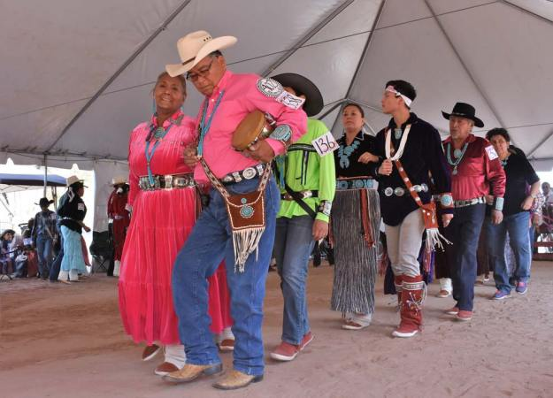 Navajo Times | Rima Krisst The Jones family from Chinle steps into the arena with style and grace.