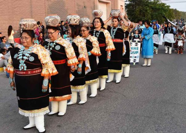 "Navajo Times | Rima Krisst The ever-popular maidens with their pots in the ""Night Parade."""