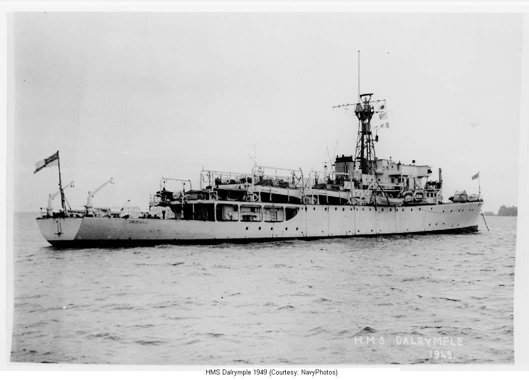 HMS Dalrymple British survey ship postWW2
