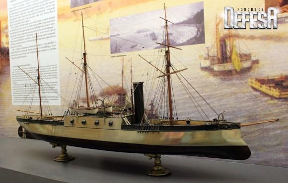 corveta encouraçada Brasil - maquete Museu Naval RJ - foto A Galante