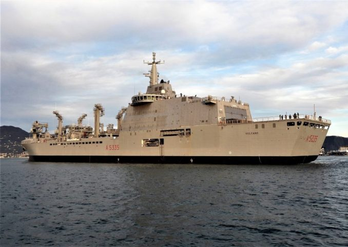 Vulcano A5335 Italian Navy's Vulcano Logistic Support Ship Starts Sea Trials 1