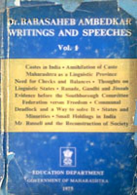 Dr. Babasaheb Ambedkar : Writing and Speeches, Vol. 1