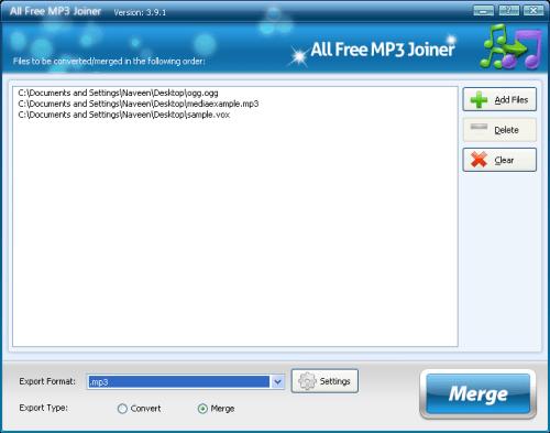 Free Audio Merger