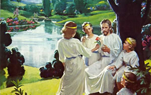 Jesús recibe el reino