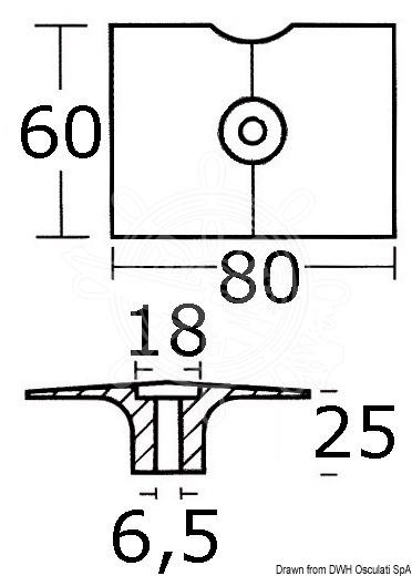 Anode Selva/Yamaha/Mariner 8/30HP Magnesium