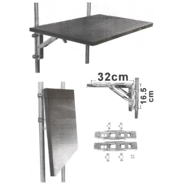 equerre pliable inox pour table chaises