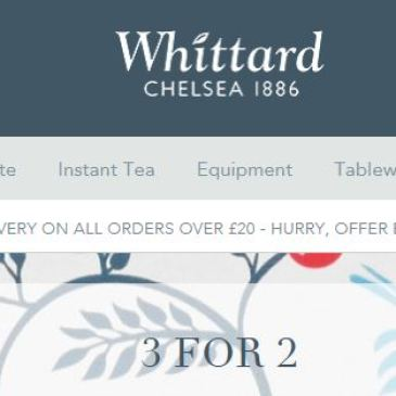 イギリスセール情報 Whittard of Chelsea(ウィッタード) 3for2