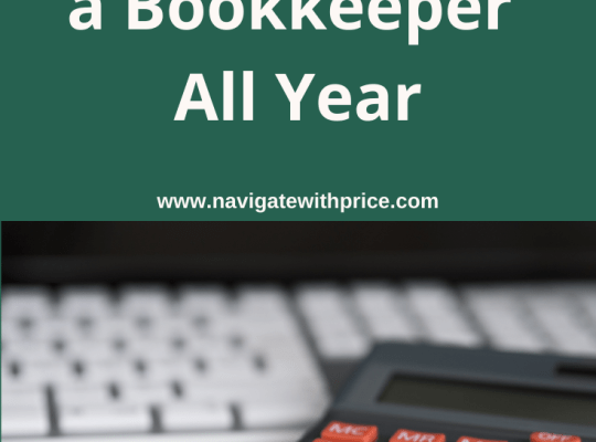 3 Reasons Why You Need a Bookkeeper All Year