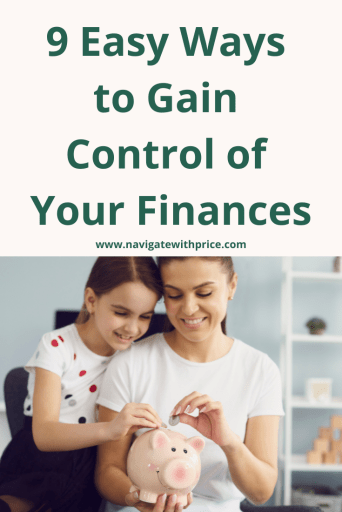 9 Easy Ways to Gain Control of Your Finances.  Whether you are single, married, or have a family you can manage your finances.