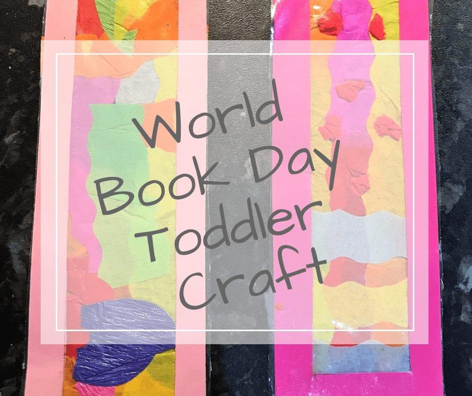 world book day toddler craft