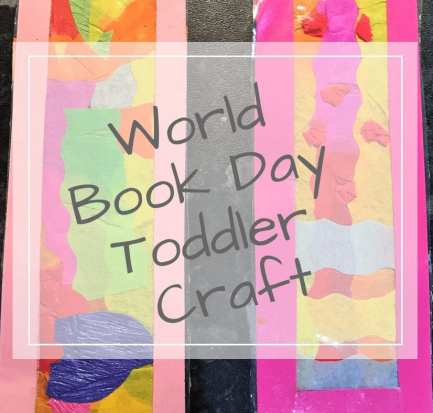 world book day toddler craft