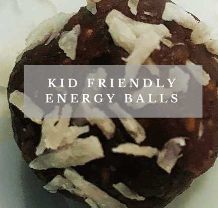 kids healthy snack energy balls