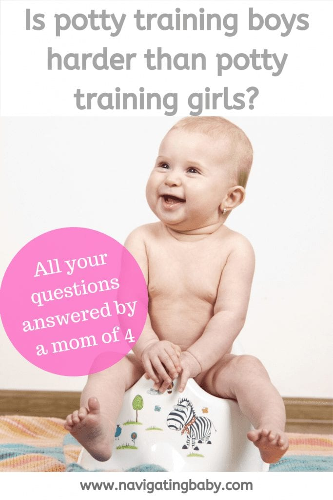 Potty Training boys question is it harder?