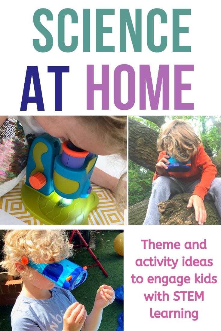 Science at home ideas and themes