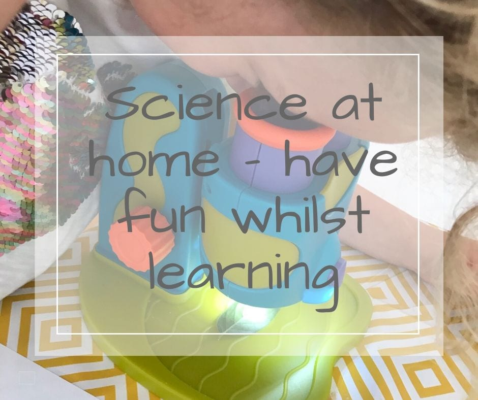 Science at home for science week for kids