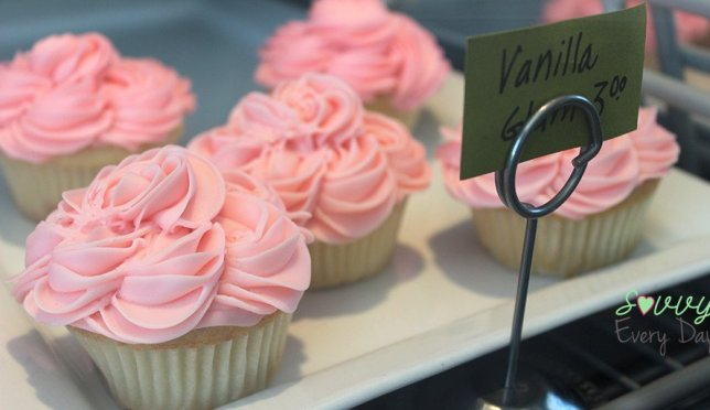 These pretty in pink cupcakes aren't vegan, but are amazing.