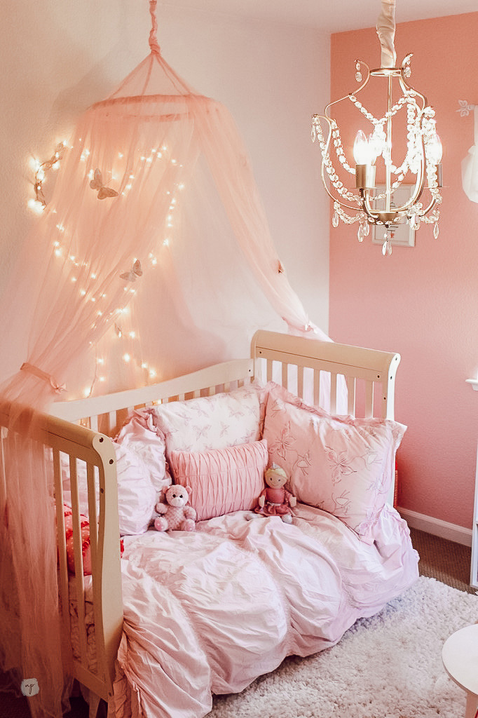 Pink little girls princess room